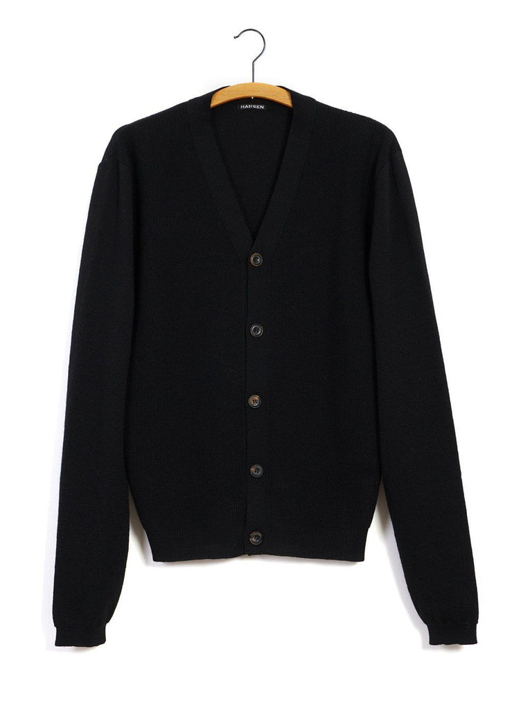 HANSEN Garments - LEON | Knitted Cardigan | Black - HANSEN Garments