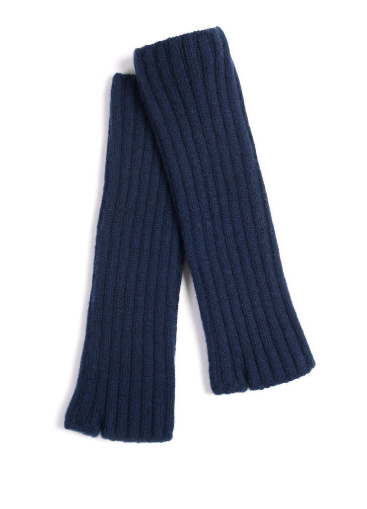LONG HALF GLOVE | Knitted Wool Glove | Navy | €85 -Kapital- HANSEN Garments