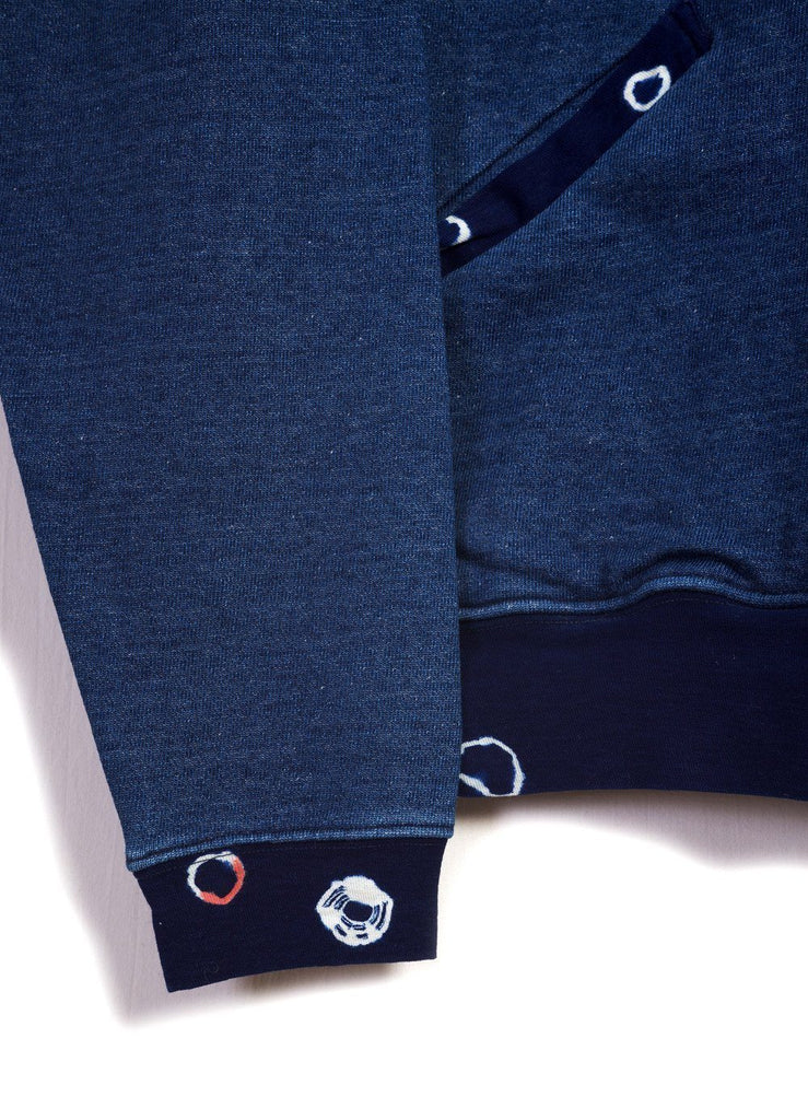 MAMESHIBORI DYE | Crew Sweat Shirt | Indigo | €320 -Kapital- HANSEN Garments