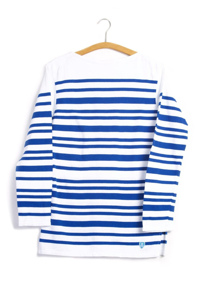 MARINE NATIONALE | Irregular Striped T-shirt | White Blue | €80 -ORCIVAL- HANSEN Garments