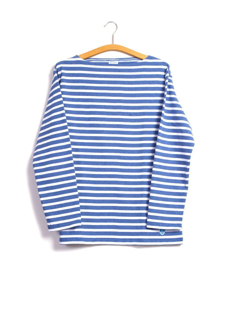 ORCIVAL - MARINE NATIONALE | Striped T-shirt | Blue White | €80 - HANSEN Garments