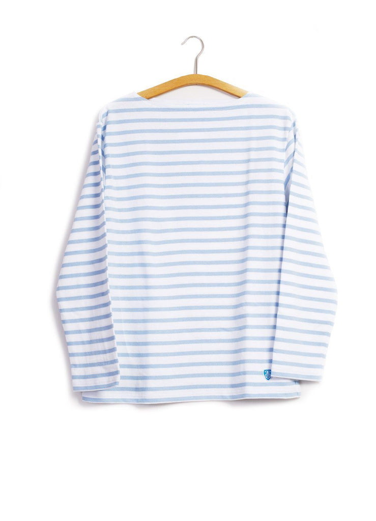 ORCIVAL - MARINE NATIONALE | Striped T-shirt | Light Blue White | €80 - HANSEN Garments