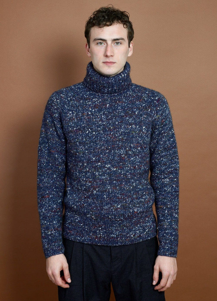 HANSEN Garments - NICK | Chunky Knitted Sweater | Bluetweed - HANSEN Garments