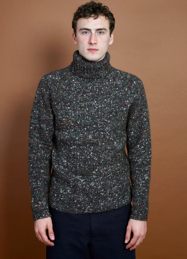 HANSEN Garments - NICK | Chunky Knitted Sweater | Browntweed - HANSEN Garments