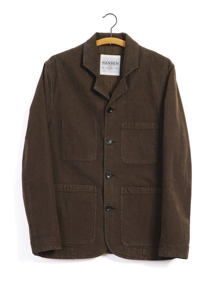 NICOLAI | Informal 4-button Blazer | Nut -HANSEN Garments- HANSEN Garments