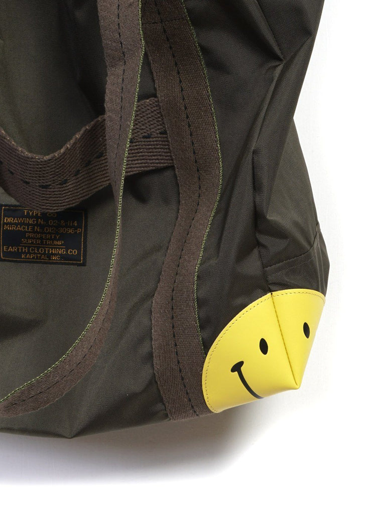 OX ARMY SMILE | NYLON TOTE BAG | Khaki | €280 -Kapital- HANSEN Garments