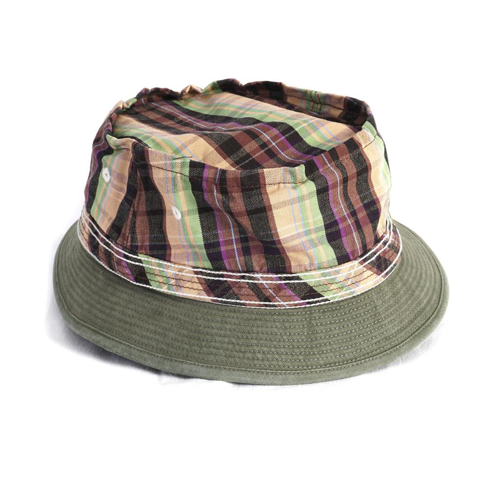 OX CHECK x CHINO | Bucket Hat | Khaki | €195 -Kapital- HANSEN Garments