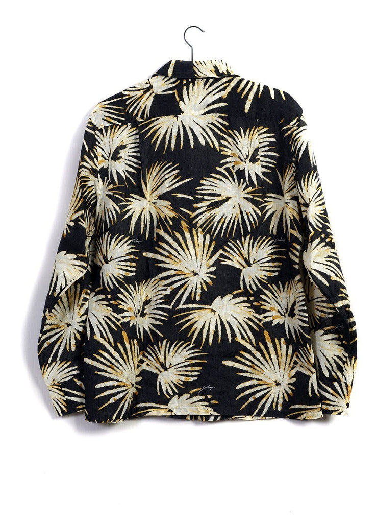 PALM ALOHA | Long Sleeve Shirt | Yellow Black | 280€ -PAIKAJI- HANSEN Garments