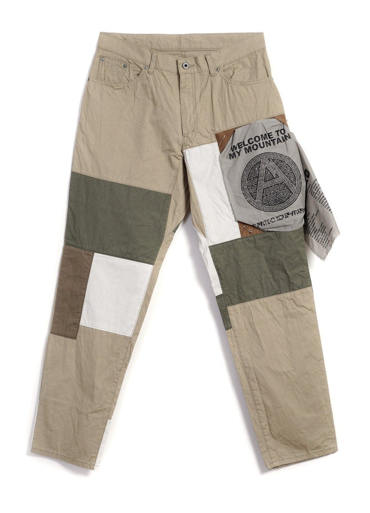MOUNTAIN RESEARCH - PATCHWORK PANTS | Beige - HANSEN Garments