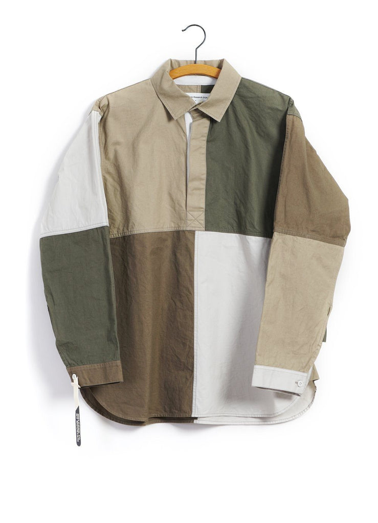 MOUNTAIN RESEARCH - PATCHWORK SHIRT | Beige - HANSEN Garments