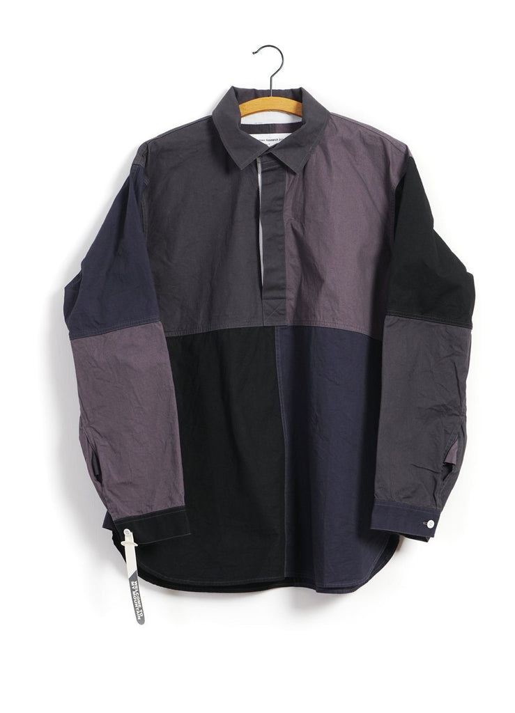 MOUNTAIN RESEARCH - PATCHWORK SHIRT | Grey - HANSEN Garments