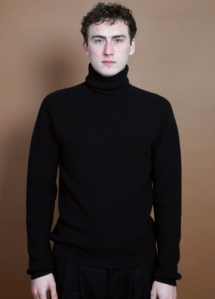 HANSEN Garments - PATRICK | Knitted Turtleneck Sweater | Black - HANSEN Garments