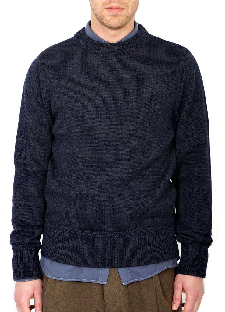 RAGNAR | Knitted Wool Sweater | Blue | €270 -HANSEN Garments- HANSEN Garments