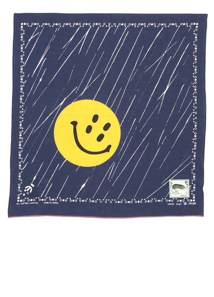 RAIN SMILE | Fast Color Selvedge Bandana | Navy | €40 -Kapital- HANSEN Garments
