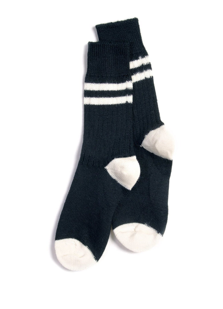 RETRO SPORT | Organic Wool Socks | Black Nature | €30 -MERZ B. SCHWANEN- HANSEN Garments