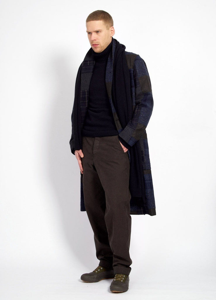 ROB | Long Shawl Collar Coat | Patchwork | €695 -HANSEN Garments- HANSEN Garments