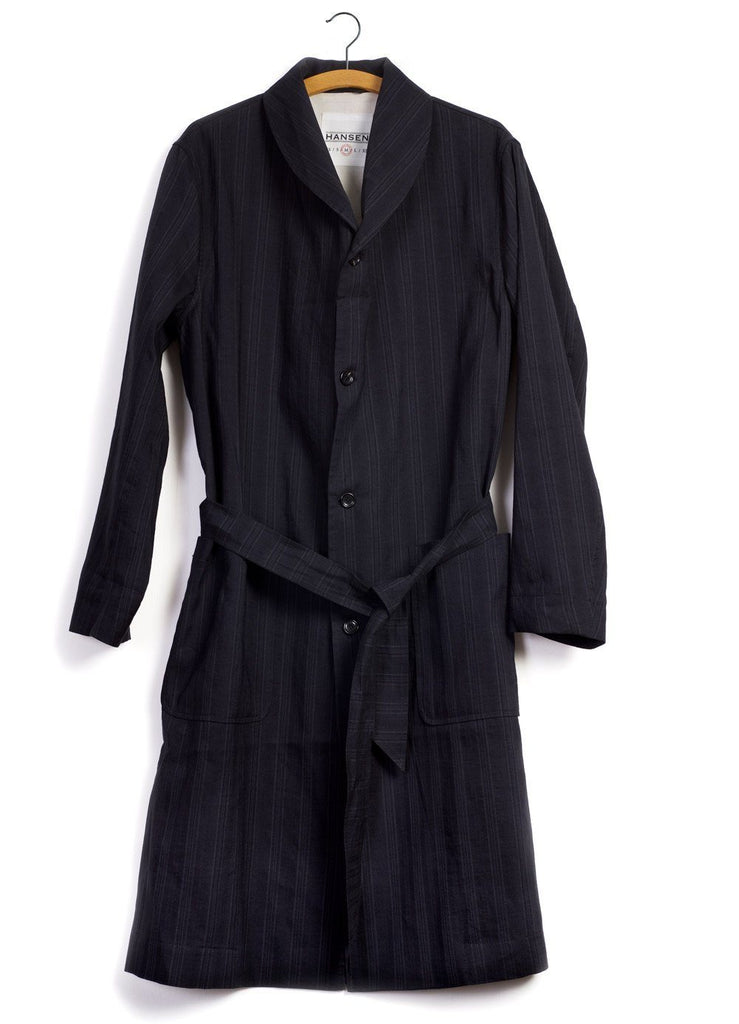 ROB | Shawl Collar Coat | Black Stripe | €565 -HANSEN Garments- HANSEN Garments