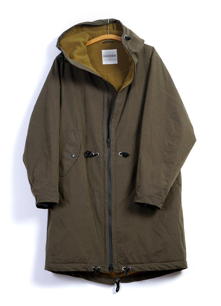RUNE | Hooded Winter Zip Parka | Olive | €725 -HANSEN Garments- HANSEN Garments