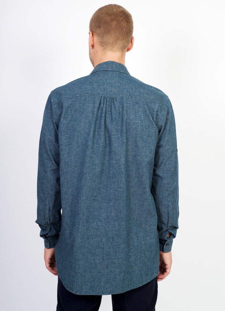 SEBASTIAN | Long Pull On Shirt | Wave Indigo | €200 -HANSEN Garments- HANSEN Garments