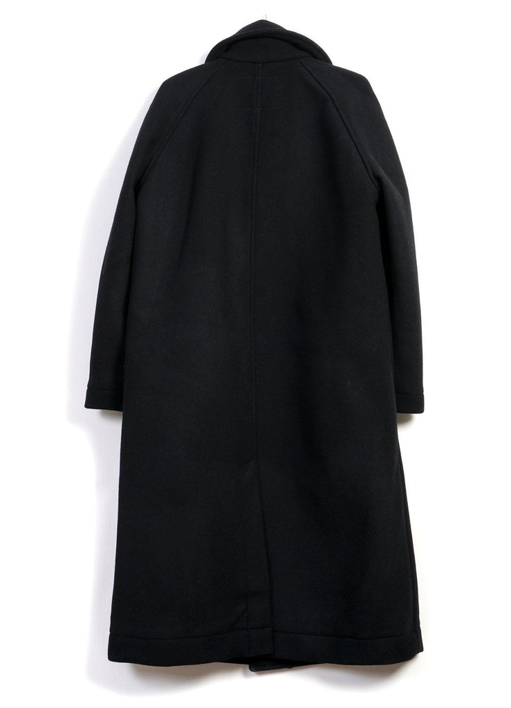 SIGFRED | Long Solid Wool Coat | Black | €650 -HANSEN Garments- HANSEN Garments