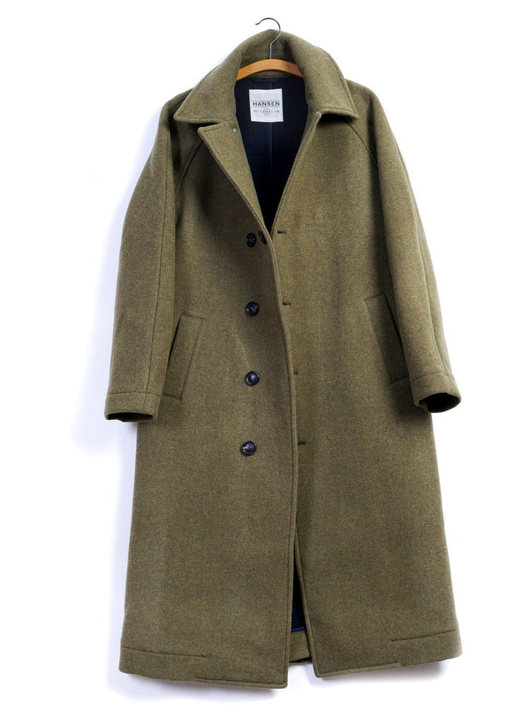 SIGFRED | Long Solid Wool Coat | September Melange | €650 -HANSEN Garments- HANSEN Garments