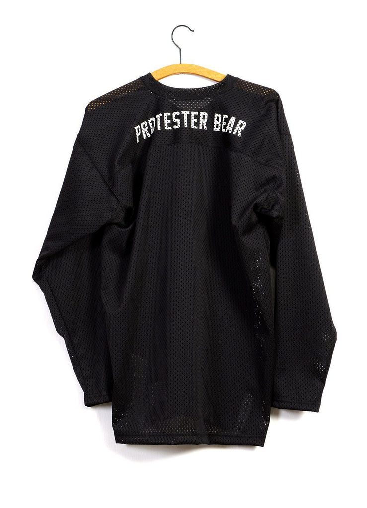 SLOGAN JERSEY | Long Sleeve Mesh Crew T | Black | €240 -MOUNTAIN RESEARCH- HANSEN Garments
