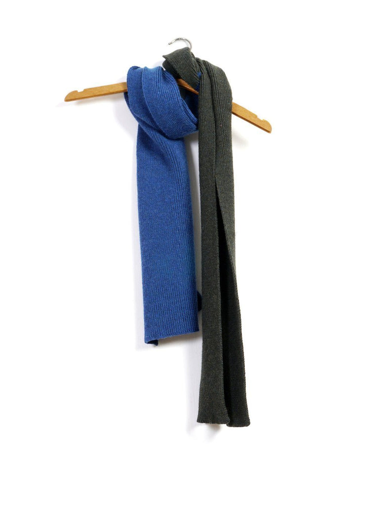 SNORRE | Block Colour Scarf | Pinetree/Blue | €100 -HANSEN Garments- HANSEN Garments