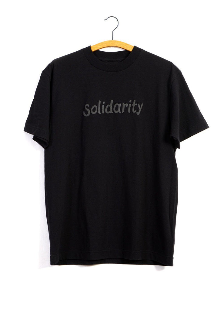 SOLIDARITY T | Printed T | Grey on Black | €115 -MOUNTAIN RESEARCH- HANSEN Garments
