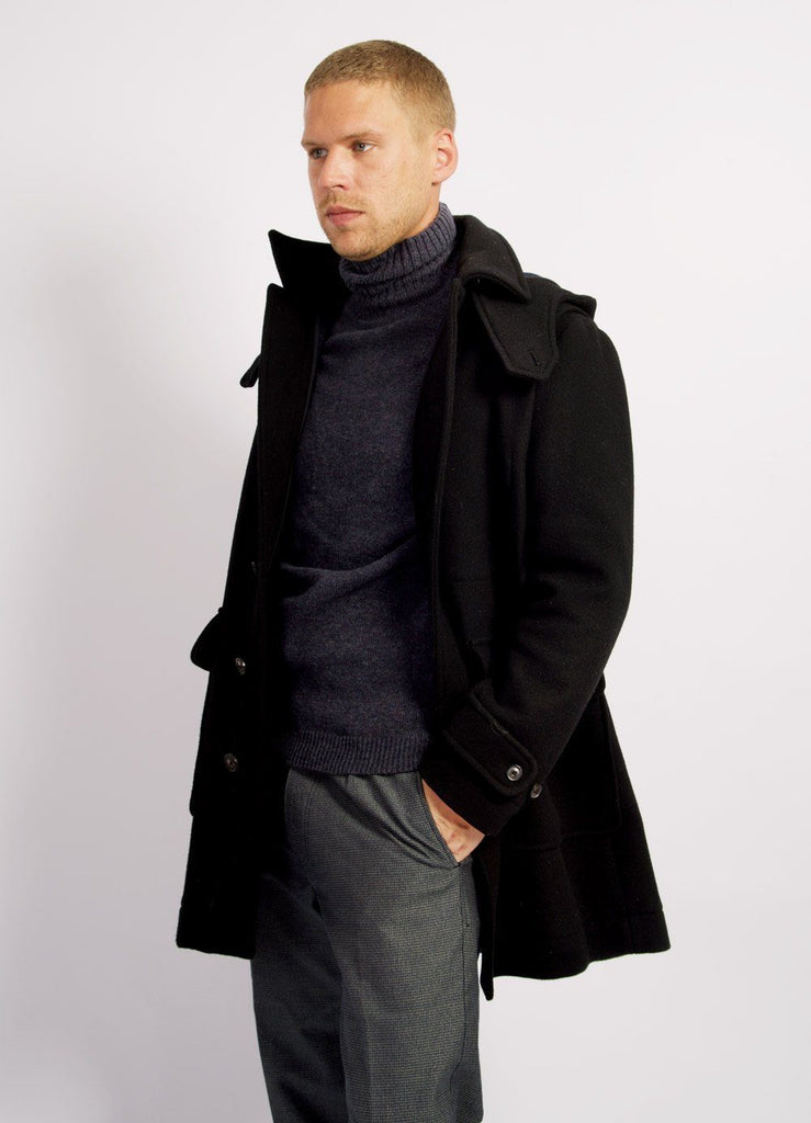 SOREN | Hooded Winter Coat I Black | €530 -HANSEN Garments- HANSEN Garments