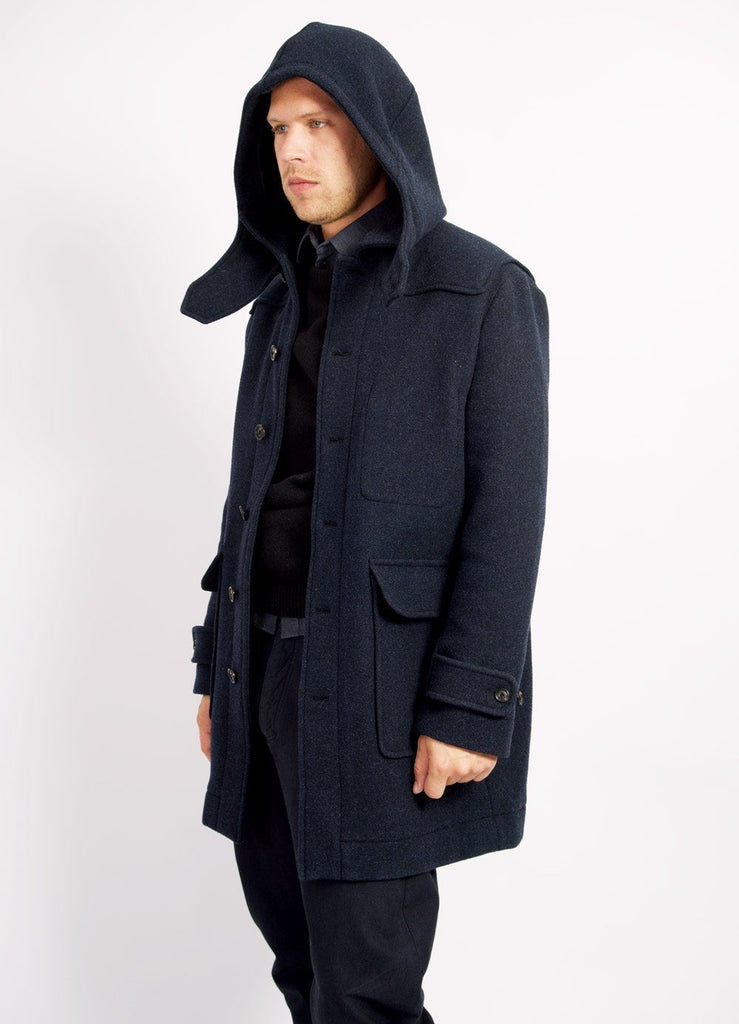 SOREN | Hooded Winter Coat I Navy | €530 -HANSEN Garments- HANSEN Garments