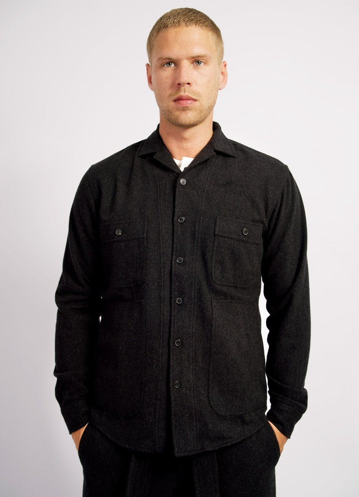 STEFAN | Wool Overshirt | Charcoal | €200 -HANSEN Garments- HANSEN Garments