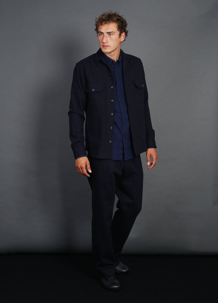 STEFAN | Worker Overshirt | Navy | €200 -HANSEN Garments- HANSEN Garments
