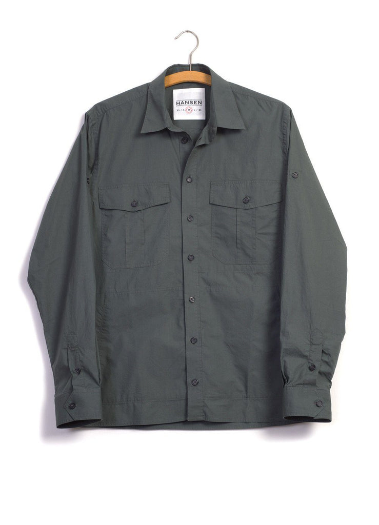 STEVEN | Lightweight Ranger Shirt | Faded Army | €230 -HANSEN Garments- HANSEN Garments