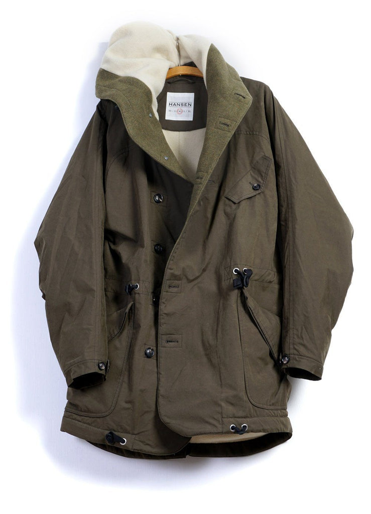 STORM | Hooded Winter Coat | Olive | €750 -HANSEN Garments- HANSEN Garments