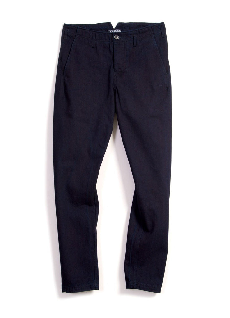 SVENNING | Slim Fit Work Trousers | Black Indigo | €190 -HANSEN Garments- HANSEN Garments
