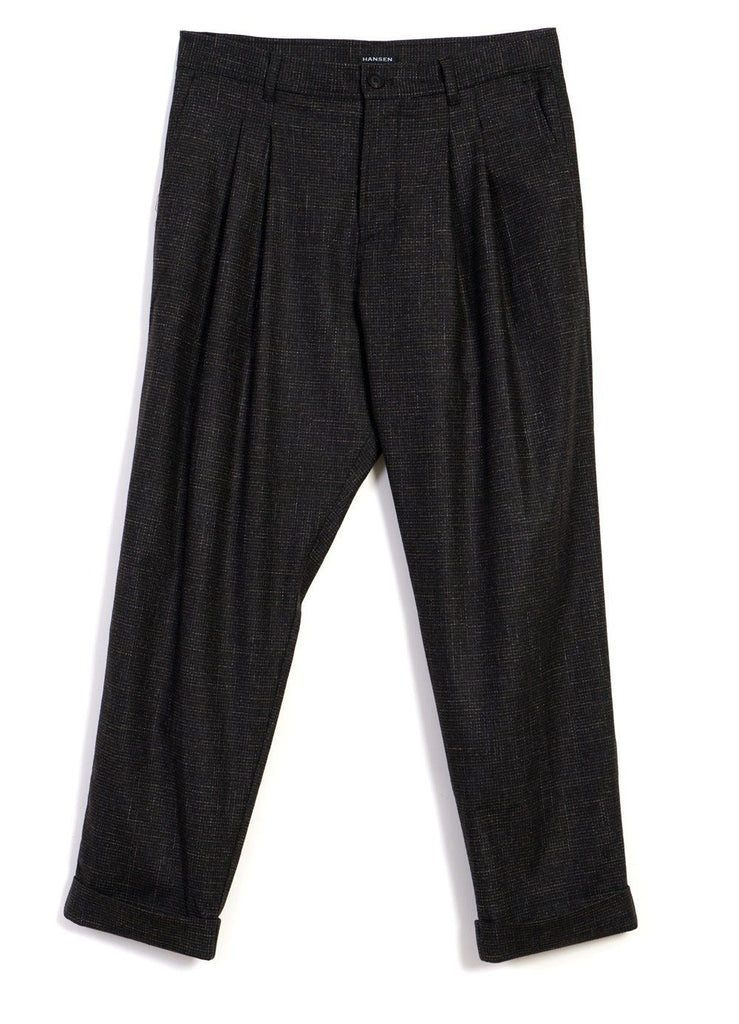 HANSEN Garments - SYLVESTER | Double Pleated Trousers | Macchiato - HANSEN Garments
