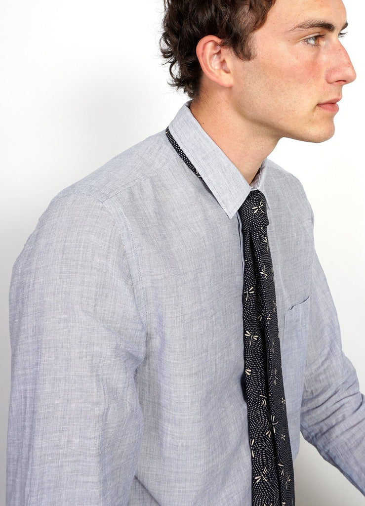 TIE | Printed Pattern Tie| Dragonfly -HANSEN Garments- HANSEN Garments