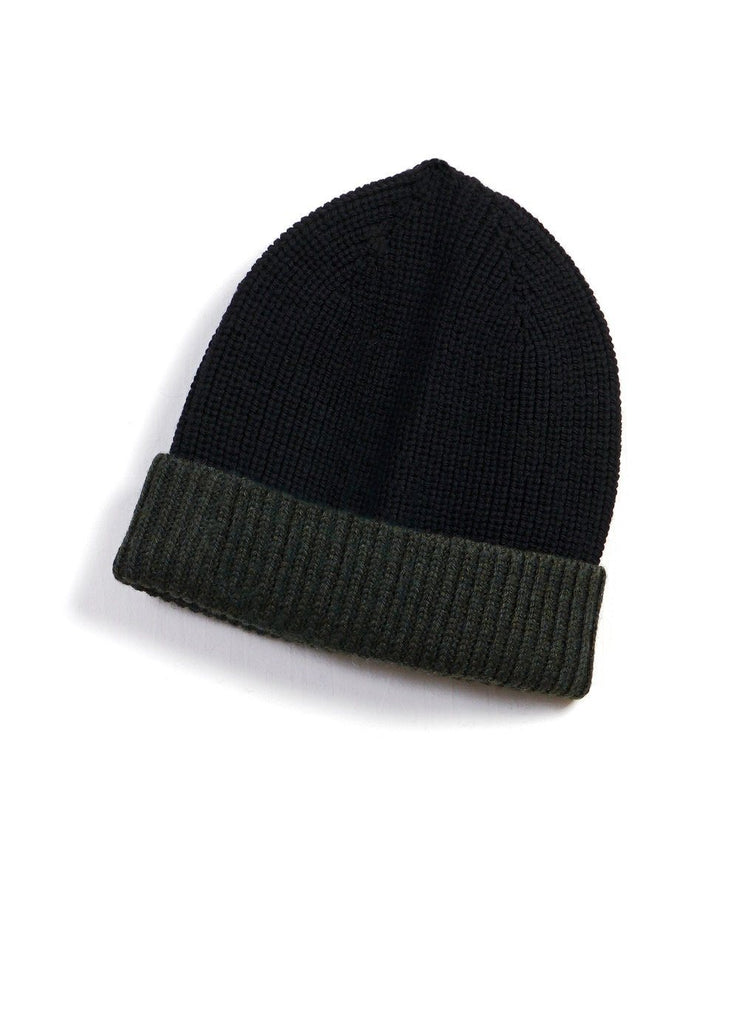 TORE | Block Colour Beanie | Black/Pinetree | €55 -HANSEN Garments- HANSEN Garments