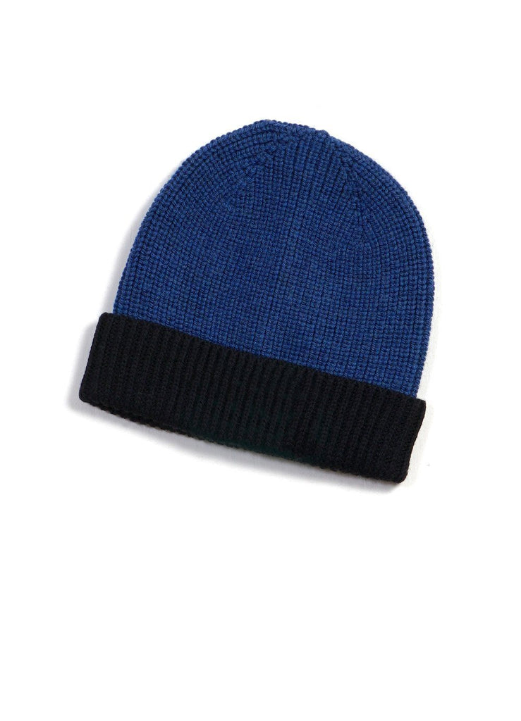 TORE | Block Colour Beanie | Blue/Black | €55 -HANSEN Garments- HANSEN Garments