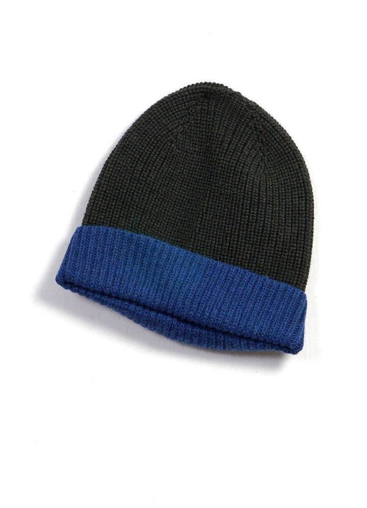 TORE | Block Colour Beanie | Pinetree/Blue | €55 -HANSEN Garments- HANSEN Garments