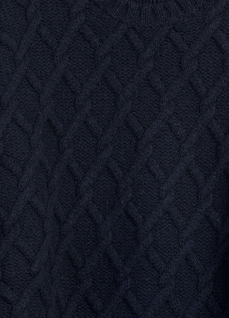 TRELLIS | Cable Stitch Sweater | Navy | €255 -Inis Meáin- HANSEN Garments