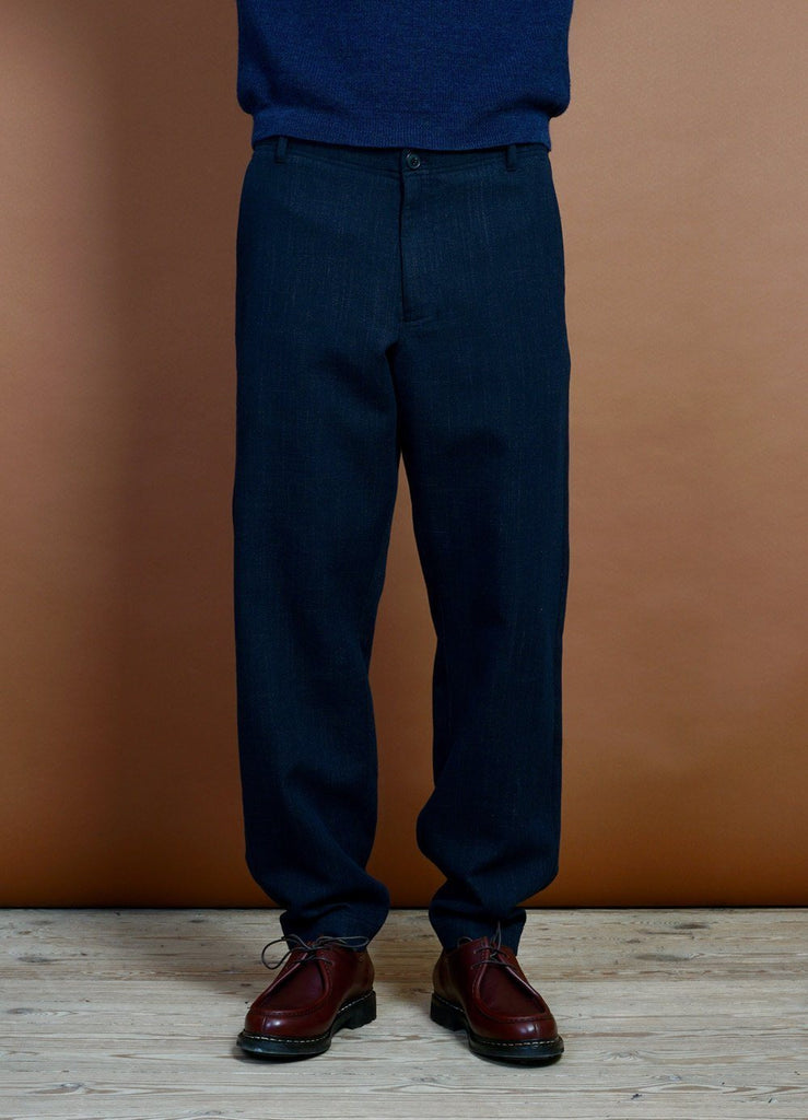 HANSEN Garments - TROND | Relaxed Everyday Trousers | Navy Melange - HANSEN Garments