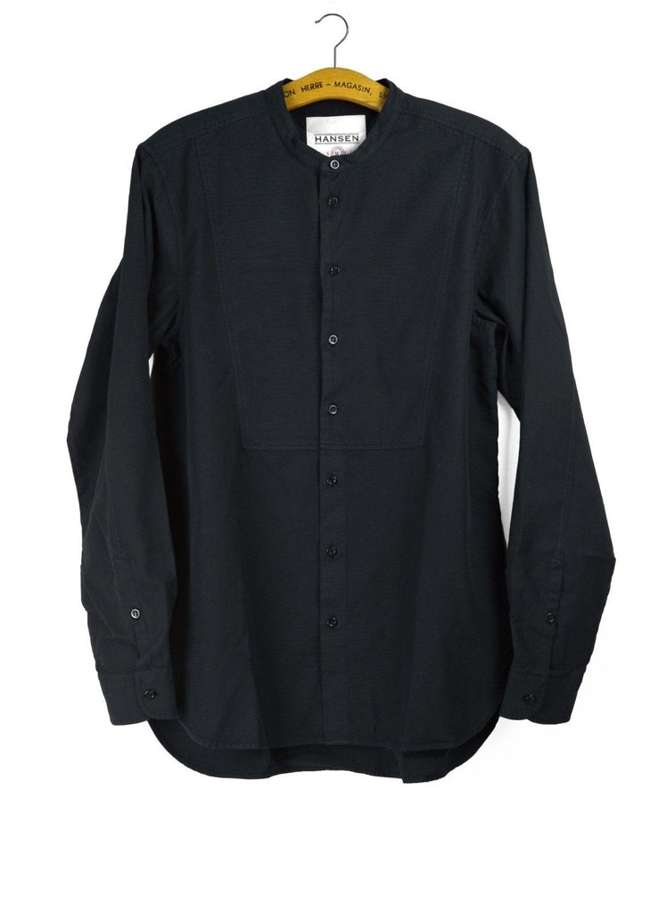 VALMAR | Collarless Bib Shirt | Black | €185 -HANSEN Garments- HANSEN Garments