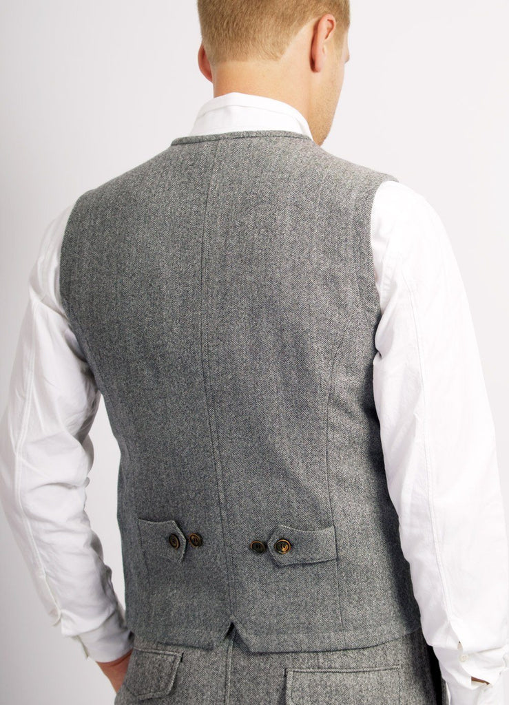 WILLIAM | Classic Vest | Grey Melange | €290 -HANSEN Garments- HANSEN Garments