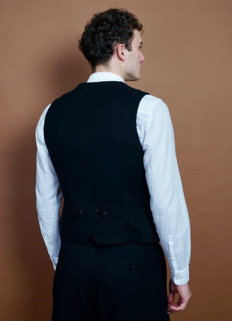 HANSEN Garments - WILLIAM | Lapel Waistcoat | Black - HANSEN Garments