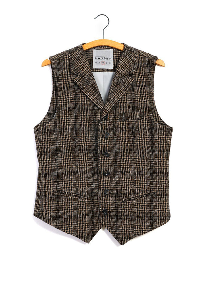 HANSEN Garments - William | Lapel Waistcoat | Checkered - HANSEN Garments