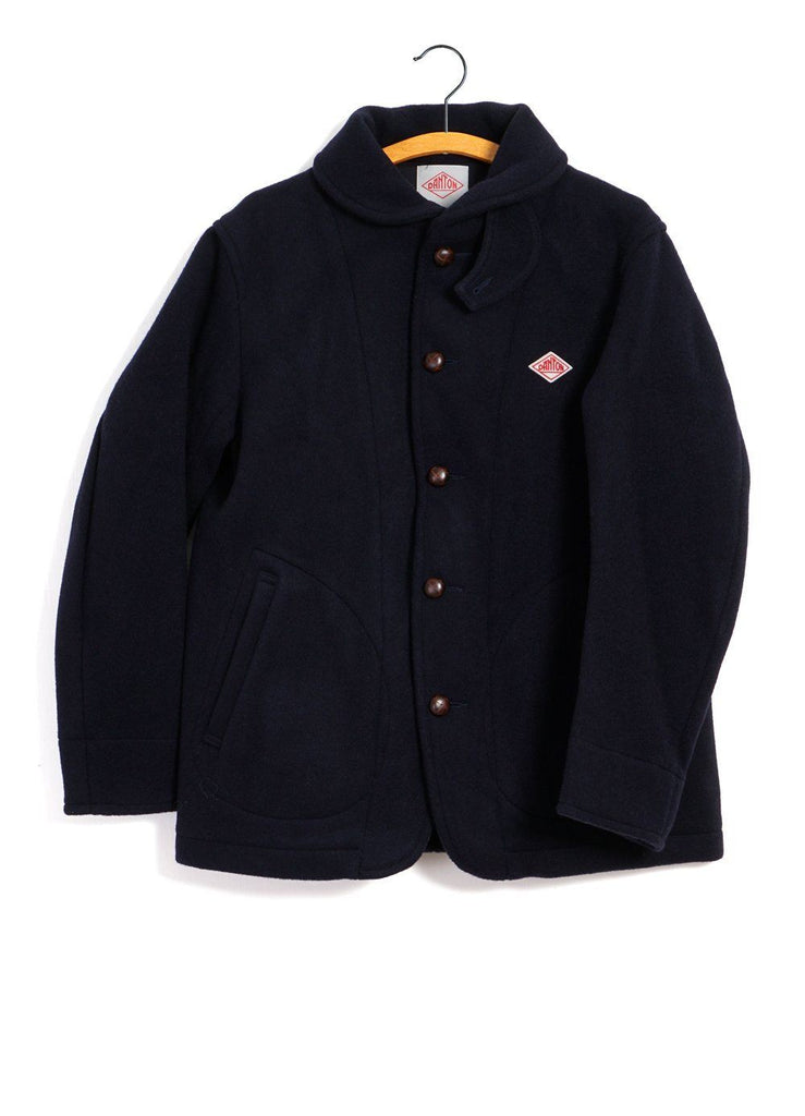 DANTON - WOOL MOSSER COAT | Navy - HANSEN Garments