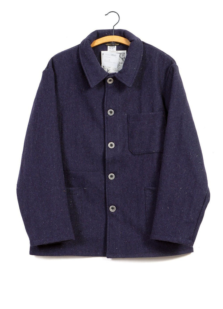 WORK JACKET | Wool | Blue | €225 -LE LABOUREUR- HANSEN Garments
