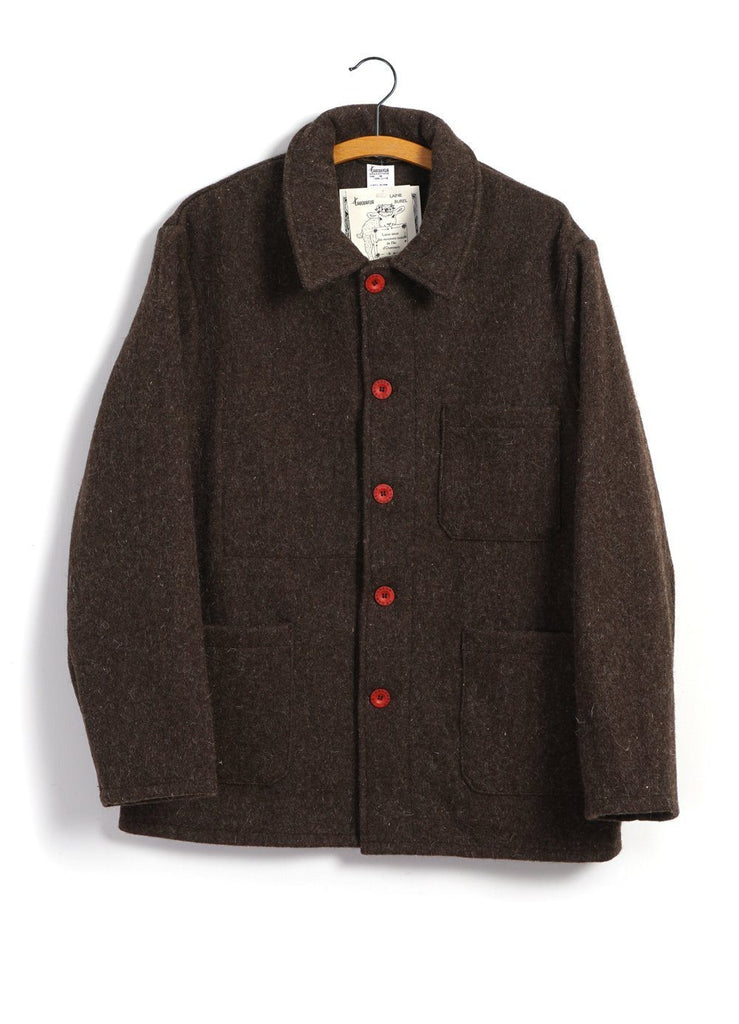 LE LABOUREUR - WORK JACKET | Wool | Brown - HANSEN Garments