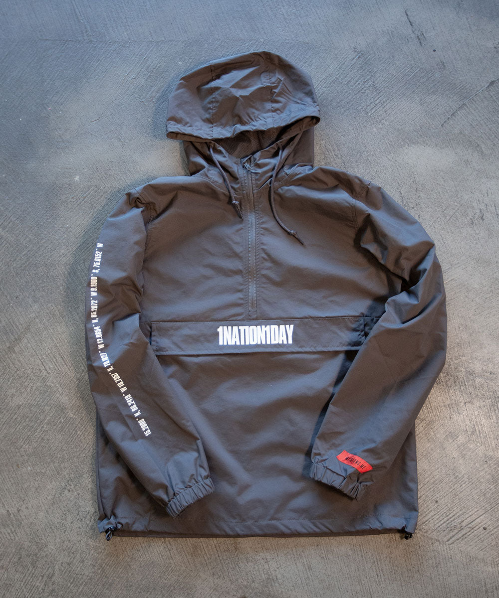 Gray 1Nation1Day Anorak Pullover